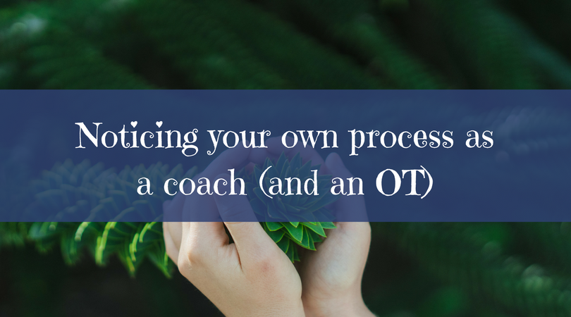 Noticing your own process as a coach (and an OT)