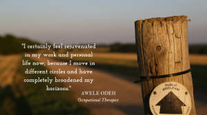 OT's doing it differently: Awele Odeh